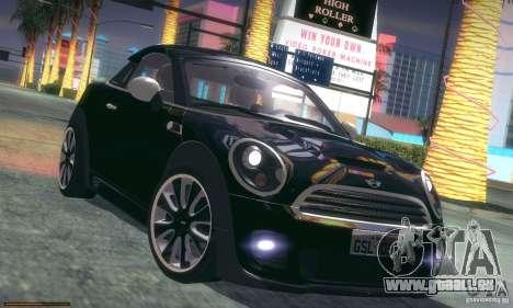Mini Concept Coupe 2010 pour GTA San Andreas vue de dessous