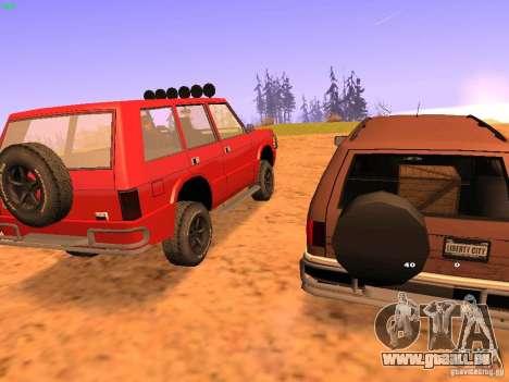 Huntley Superior für GTA San Andreas Rückansicht