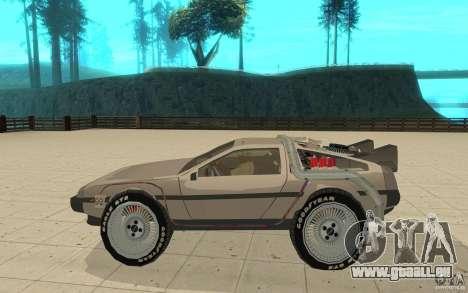 DeLorean DMC-12 (BTTF1) pour GTA San Andreas laissé vue