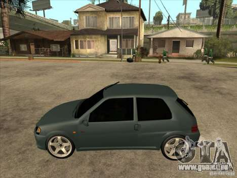 Peugeot 106 GTI Tuning für GTA San Andreas linke Ansicht