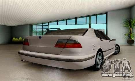 Saab 9-5 Sedan Tuneable pour GTA San Andreas laissé vue