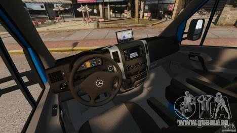 Mercedes-Benz Sprinter 3500 Car Transporter pour GTA 4 est une vue de l'intérieur