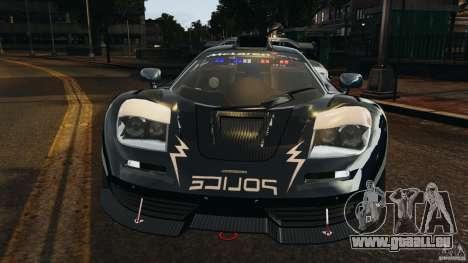 McLaren F1 ELITE Police [ELS] pour GTA 4 est un côté