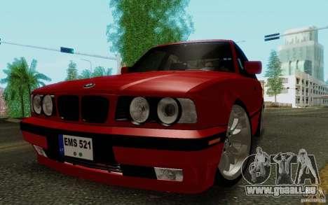 BMW E34 540i Tunable pour GTA San Andreas laissé vue