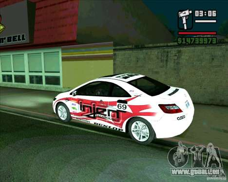 Honda Civic 2006 Coupe 1.1 für GTA San Andreas linke Ansicht