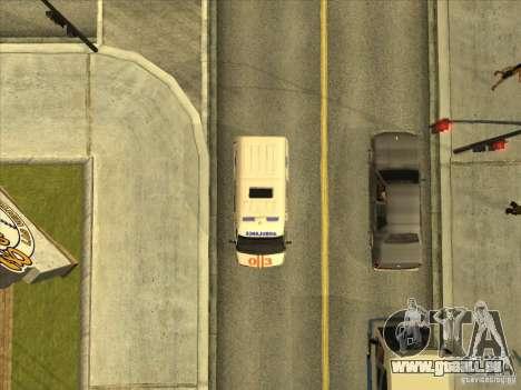 GAZ 22172 ambulance pour GTA San Andreas vue arrière