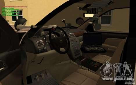 Chevrolet Tahoe SAPD pour GTA San Andreas vue de droite
