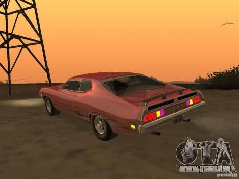 Ford Torino Cobra 1970 Tunable für GTA San Andreas zurück linke Ansicht