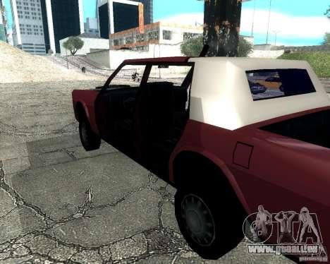 Derby Greenwood Killer für GTA San Andreas zurück linke Ansicht