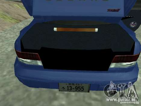 Subaru Impreza 22B STI pour GTA San Andreas vue arrière