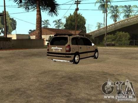 Opel Zafira pour GTA San Andreas vue de droite