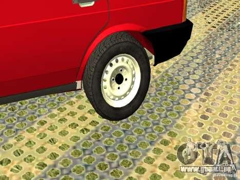 VAZ 2109 v2 pour GTA San Andreas vue arrière