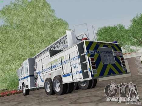 Pierce Puc Aerials. Bone County Fire & Ladder 79 für GTA San Andreas Seitenansicht