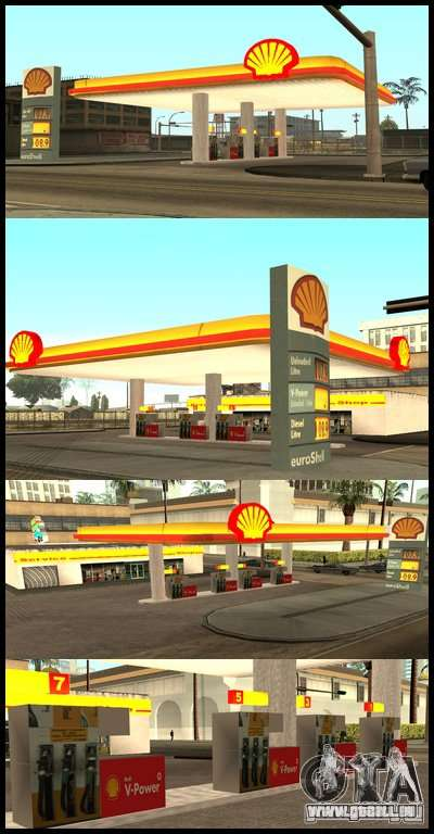 Shell station pour GTA San Andreas