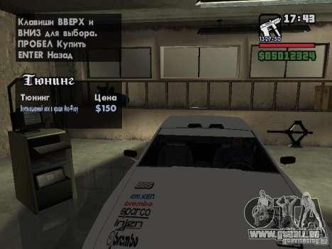 Ultra Elegy v1.0 für GTA San Andreas Innen