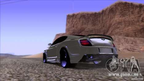 Bentley Continental GT Premier 2008 V2.0 für GTA San Andreas