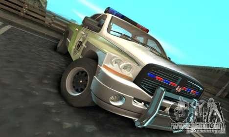 Dodge Ram 1500 POLICE 2008 pour GTA San Andreas laissé vue