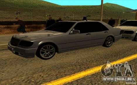 Mercedes-Benz S600L 1998 pour GTA San Andreas vue de dessus