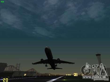 Boeing 767-400ER Delta Airlines pour GTA San Andreas vue de côté