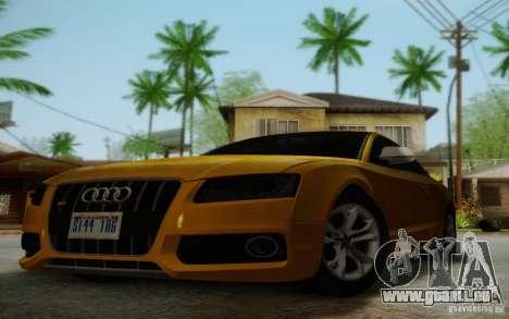Audi S5 pour GTA San Andreas vue de dessus