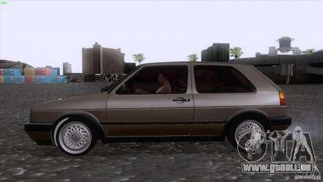 Volkswagen Golf Mk2 GTi für GTA San Andreas Rückansicht