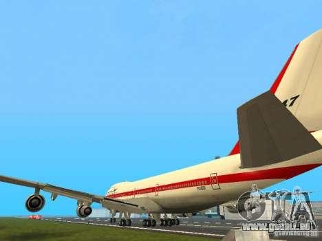 Boeing 747-100 für GTA San Andreas zurück linke Ansicht