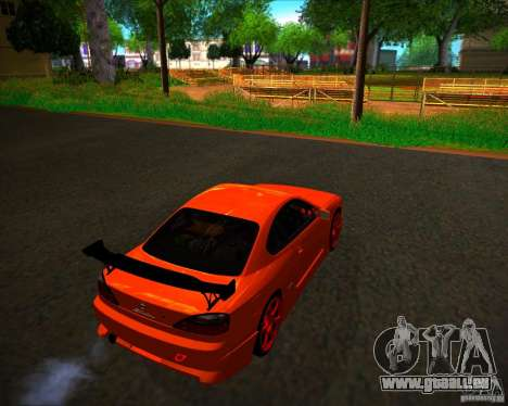 Nissan Silvia S15 face S13 V.2 pour GTA San Andreas sur la vue arrière gauche
