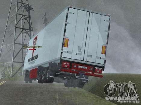 Kühlschrank-trailer für GTA San Andreas zurück linke Ansicht
