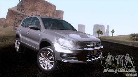 Volkswagen Tiguan 2012 pour GTA San Andreas laissé vue
