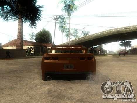 Chevrolet Camaro SS Dark Custom Tuning pour GTA San Andreas sur la vue arrière gauche