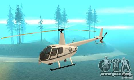 Robinson R44 Raven II NC 1.0 blanc pour GTA San Andreas