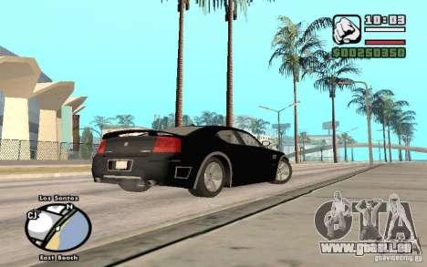 Dodge Charger SRT8 für GTA San Andreas obere Ansicht