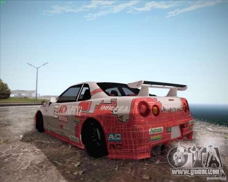 Nissan Skyline Z-Tune v2.0 für GTA San Andreas Rückansicht