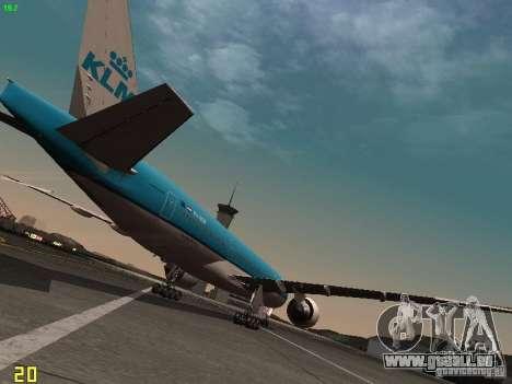 Boeing 777-200 KLM Royal Dutch Airlines pour GTA San Andreas vue de droite