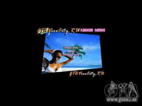 Arrière-plan de menu Spiaggia GTA Vice City pour la troisième écran