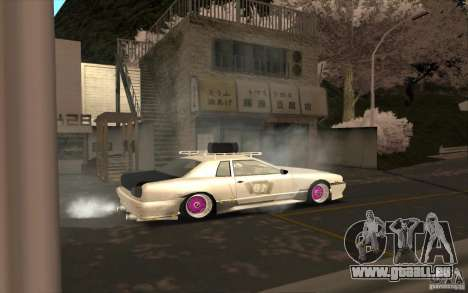 Elegy Rat by Kalpak v1 pour GTA San Andreas vue de dessus