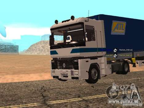 Renault Magnum Sommer Container für GTA San Andreas linke Ansicht