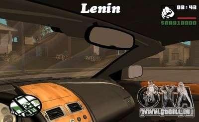 Le script CLEO : vue depuis la cabine pour GTA San Andreas cinquième écran