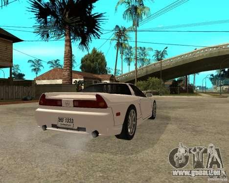 Acura/Honda NSX pour GTA San Andreas sur la vue arrière gauche