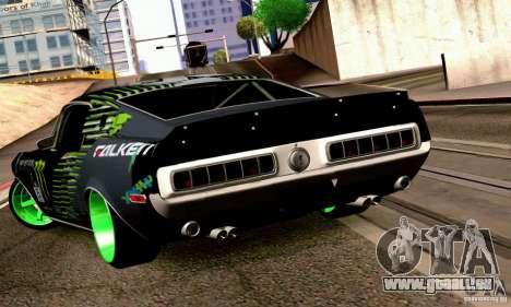 Shelby GT500 Monster Drift pour GTA San Andreas laissé vue