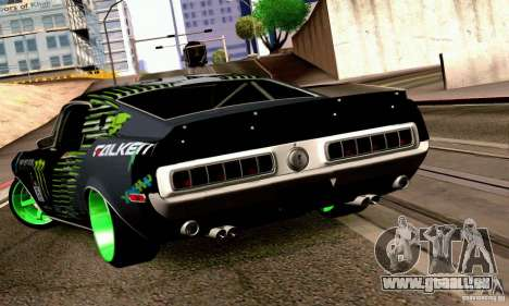 Shelby GT500 Monster Drift für GTA San Andreas linke Ansicht