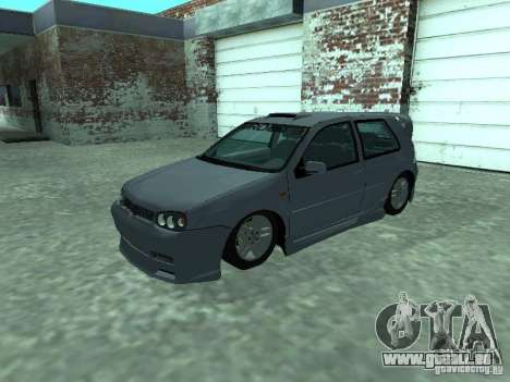 Volkswagen Golf IV für GTA San Andreas obere Ansicht