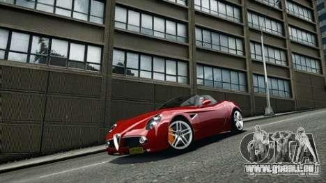 Alfa Romeo 8C Spyder für GTA 4 rechte Ansicht