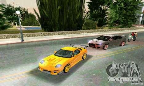 Mazda RX7 RE-Amemiya pour GTA Vice City sur la vue arrière gauche