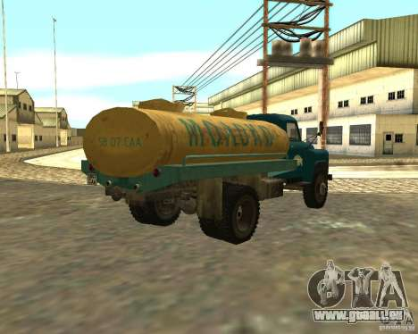 CAMION DE GAZ 53-12-3 pour GTA San Andreas sur la vue arrière gauche