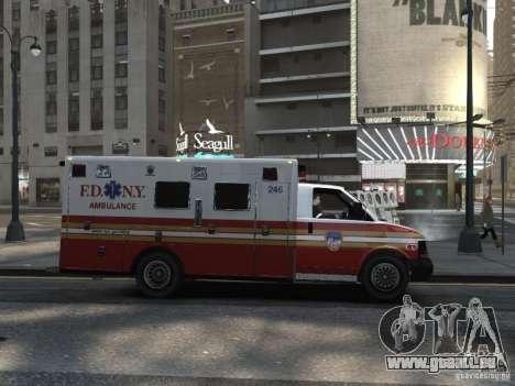 Chevrolet Ambulance FDNY v1.3 für GTA 4 rechte Ansicht