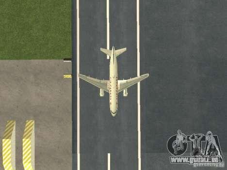 Airbus A319 Air Canada pour GTA San Andreas vue intérieure