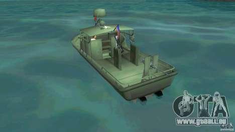 Patrol Boat River Mark 2 (Player_At_Wheel) pour GTA Vice City sur la vue arrière gauche