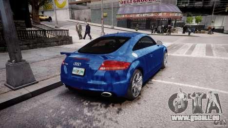 Audi TT RS Coupe v1 pour GTA 4 Vue arrière de la gauche