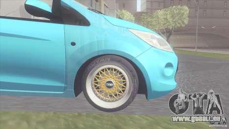 Ford Ka Stance Perry Edtion pour GTA San Andreas sur la vue arrière gauche